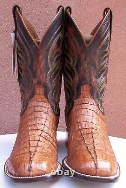 Lucchese Landon, Tan HBC Croc Tail Skin Boots, Style# 2685, Size (11. 5 D)