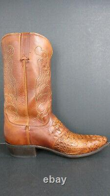 Lucchese M2536.54 Beauford Men's Western Boot Tan Caiman Size 11ee Pre-owned