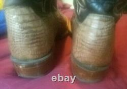 Lucchese Men's Haan Caiman Tail Western Boots CL1019. W8S, Tan/Chocolate, Sz. 10D