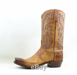 Lucchese Mens Kd1505.73 Tan Burnished Cowboy, Western Boots Size 10.5