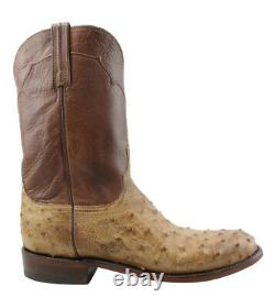 Lucchese Mens M9633. C2 Tan Burnished Cowboy, Western Boots Size 10 (EE)