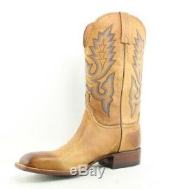 Lucchese Mens Tan Burnished Cowboy, Western Boots Size 10 (EE) (160741)