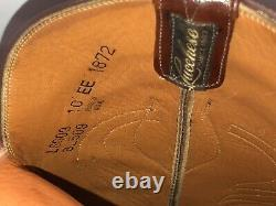 Lucchese Mens Tan Classics Seville Goatskin Square toe Boots 10 EE 10EE