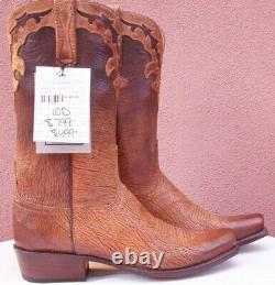 Lucchese Ombre, Tan Old English Goat Skin Boots, Style # GY1530, Size (10 D)