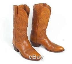 Lucchese San Antonio Tan Cowboy Boots Men's 10D Vintage Forerunner to Classics