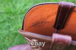 Lucchese Tan Buccaneer Calf Leather Cowboy Boot UK 7 US 7.5 D A1500-R4