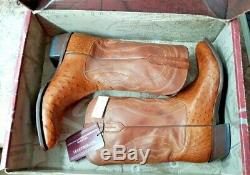 Lucchese Tan Burn F. Q. Ost/tan Ranch Size 13.0 D Cowboy Boots