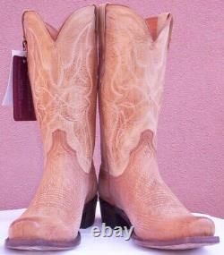 Lucchese, Tan Burnish Sanded Shark, Style #M3190, Size (10 D)
