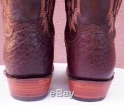 Lucchese Tan Burnished, Smooth ostrich Cowboy Boots, Style# CY1303, Size (13 2E)