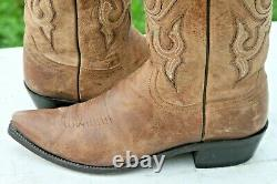 Lucchese The Lewis M1008 11D Goat Cowboy Boots Pointed Toe Mad Dog Tan