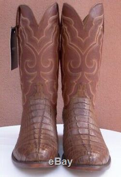 Lucchese Walter, Tan Burnished HBC Tail Boots, Style# N1157, Size (10.5 2E)