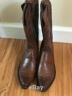 Lucchese Womens Cowboy Riding Boots Size 8.5 B Color Tan Ranch Hand NIB
