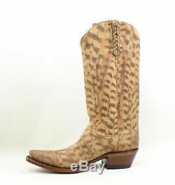 Lucchese Womens M5105. S54 Tan Cowboy, Western Boots Size 7 (240766)