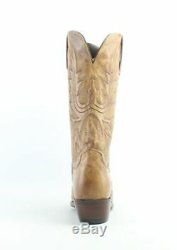Lucchese Womens N4540.54 Tan Burnish Cowboy, Western Boots Size 8 (642493)