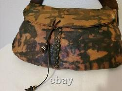 Lucky brand leather purse handbag black tan beige dyed small bag green brown red