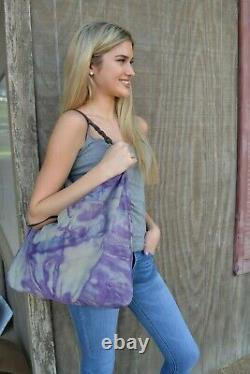 Lucky suede brown leather tan beige black tote large bag boho cowgirl equestrian