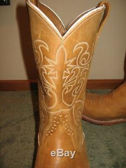 Men's Rios of Mercedes Tan Leather Western Boots Size 10D (4100)
