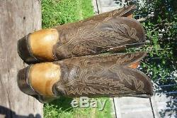 Mens 10 D M 1883 Lucchese Tan Full Quill Ostrich Western Cowboy Boots N7619R4