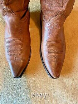 Mens LUCCHESE 1883 (Style M1004 S54) Ranch Hand Tan Snip Toe Cowboy Boots, 9.5D