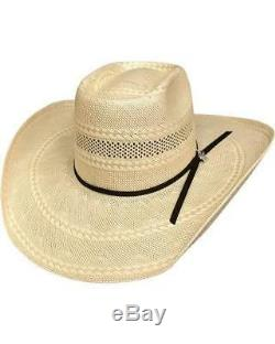 NEW BULLHIDE GLEASON 100X 7 5/8 XLarge Straw Cowboy PBR Hat, (NATURAL/TAN) Color