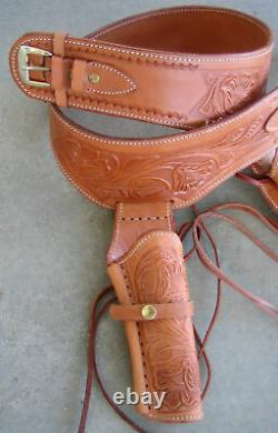 NEW! TAN Leather Single Western Cowboy Holster 38/357 cal b