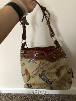NWOT Dooney & Bourke Tan Texas Drawstring Slouch Bag Western Cowboy Boot +Wallet