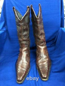 New Awesome DSQUARED2 Rare (Spring 2006) 5 Star Campin' Tan Cowboy Boots 42 US 9