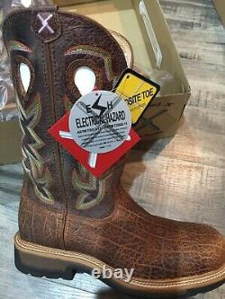 New In Box Twisted X Composite Toe Cowboy Work Boots. Mens Size 10D Tan/Tan