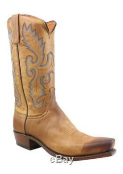 New Lucchese Mens Kd1505.73 Tan Burnished Cowboy, Western Boots Size 10.5