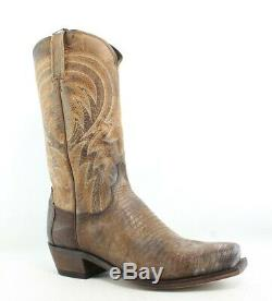 New Lucchese Mens M2904.74 Tan Cowboy, Western Boots Size 9.5
