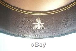 New Resistol Long Oval Silverbelly Tan 4x Beaver Cowboy Western Hat 6 7/8 And 4