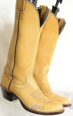 Olathe Vintage Tall Polo YellowithTan Western Cowboy Boots 101230 Men's US 7.5 B