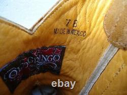 Old Gringo Sora Embroidered Floral Tan Leather Cowgirl Ankle Boot Women SZ# 7 B