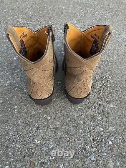 Old Gringo Viana LS Tan Leather Cowboy Western Ankle Boots Size 6.5 Womens