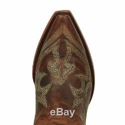 Old Gringo Womens Diego Western Cowboy Boots Pull On Leather Snip Toe Rustic Tan