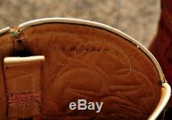 Old Hand Made Tres Caballos Saddle Tan Leather Cowboy Western Equestrian Boots