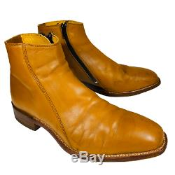 RM Williams Boots Balmoral Tan Brown Leather Zip Up Mens Size 8.5H RRP $595