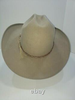 Rand's Custom Hatters 8x Beaver Cowboy Hat Size 7 3/8 Light Brown Tan