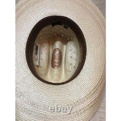 Resistol 20x Conley Rodeo Western Cowboy Stetson Tan Ivory Natural Straw Hat