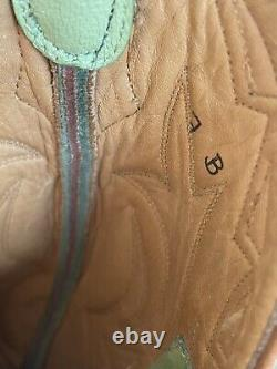 Rod Patrick Bookmakers Handmade Leather Cowboy Boots Size 7b Green Tan White
