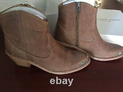 SPELL & THE GYPSY SUGAR SKULL BOOTS TAN SZ 40 Excellent Condition