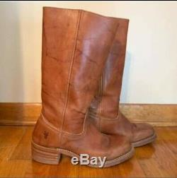 Tall Frye Campus boot in Saddle Tan. Buttery soft Frye leather