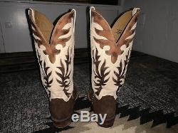 Tan Alligator/Stingray Men's Lucchese 9.5 EE Cowboy Boots