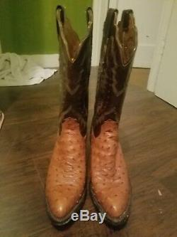 Tan and brown lucchese womens cowboy boots size 7 almost never worn