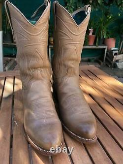 Tecovas Mens Leather Cartwright Cowboy Boots Desert Tan Brown Size 10 EE