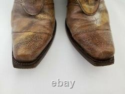 The Old Gringo Womens Distressed Tan Leather Cowboy Boots 6.5 B Mexico