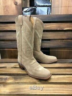 Tony Lama 7965 Size 10d Mens Bingham Tan Suede All Over Western Boots
