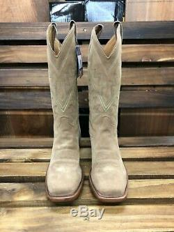 Tony Lama 7965 Size 13d Mens Bingham Tan Suede All Over Western Boots
