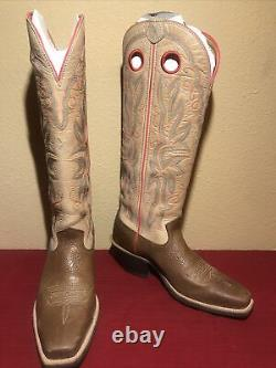 Twisted X Ladies Embroidered Tall Cowboy Boots Size 8B Tan/Brown
