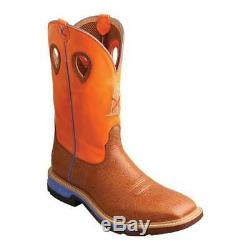 Twisted X Men's MXBA003 12 Alloy Toe Western Work Boot Tan/Orange Full Grain